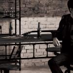 アンティークテーブル KLUB14シリーズ INDUSTRIAL TABLE WITH STOOL